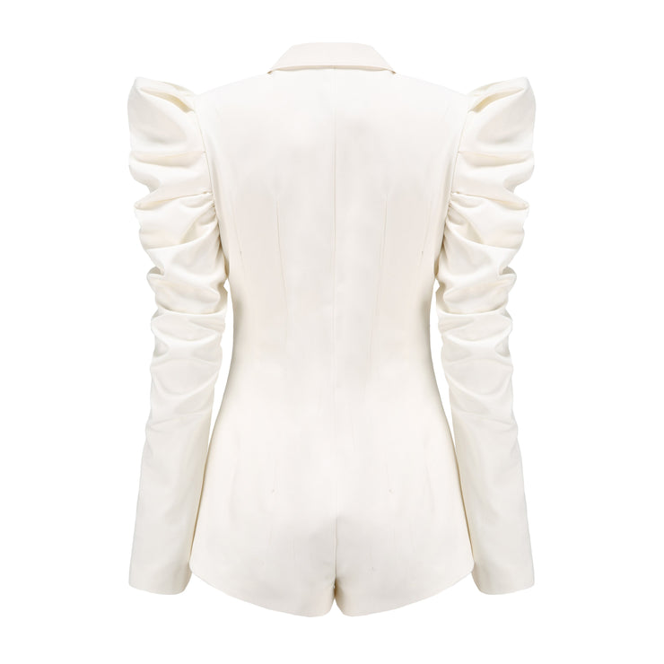 White Soho Pleated Jumpsuit - Nana Jacqueline
