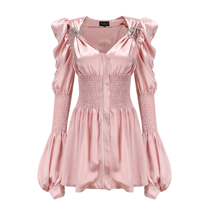 Crystal Ruffle Dress - Nana Jacqueline