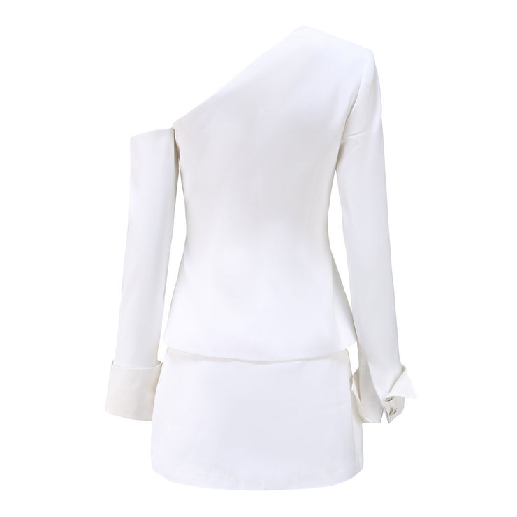White Manhattan Blazer Top - Nana Jacqueline