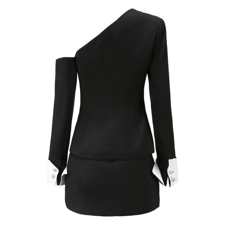 Black Manhattan Blazer Top - Nana Jacqueline