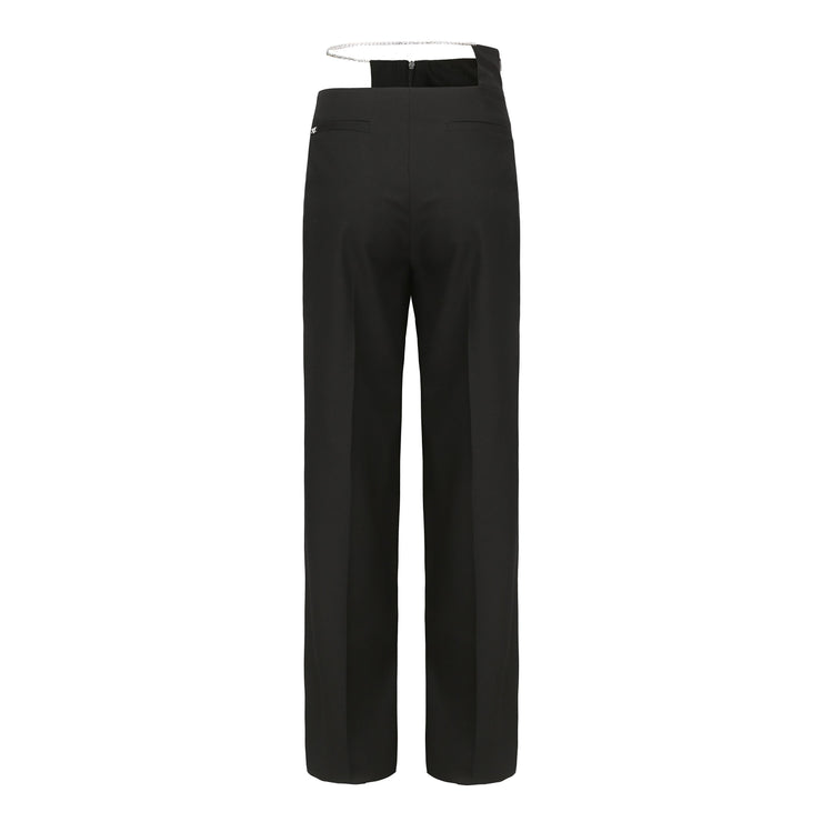 Black Hallie Wide Leg Pants - Nana Jacqueline