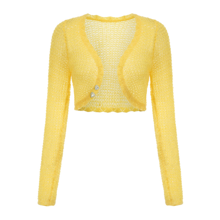 Yellow Mohair Cardigan Set - Nana Jacqueline
