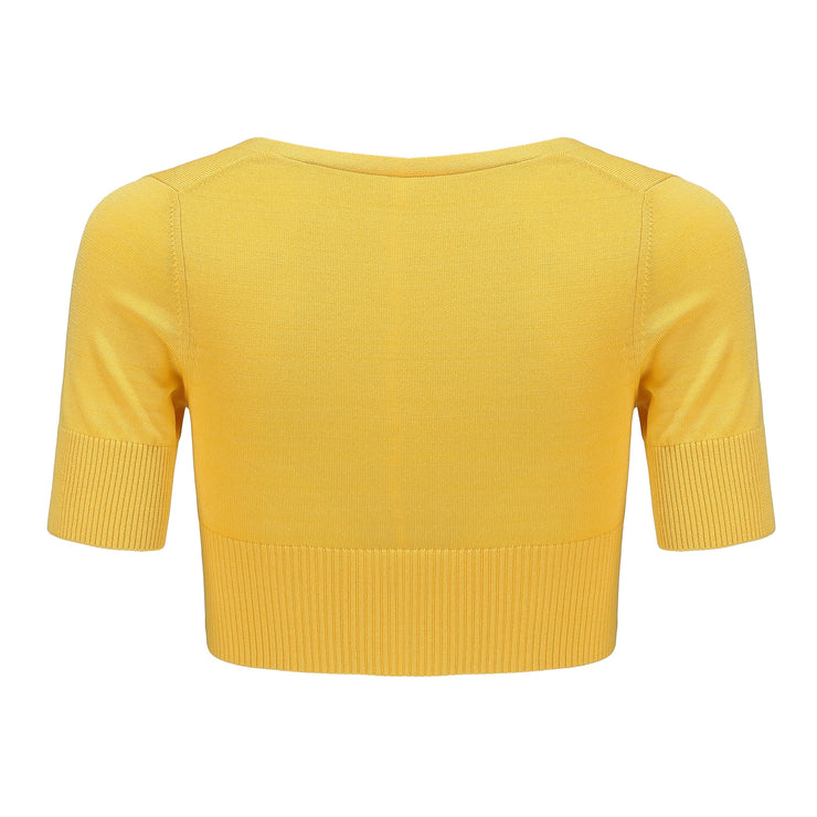 Yellow Polly Crop Knit - Nana Jacqueline