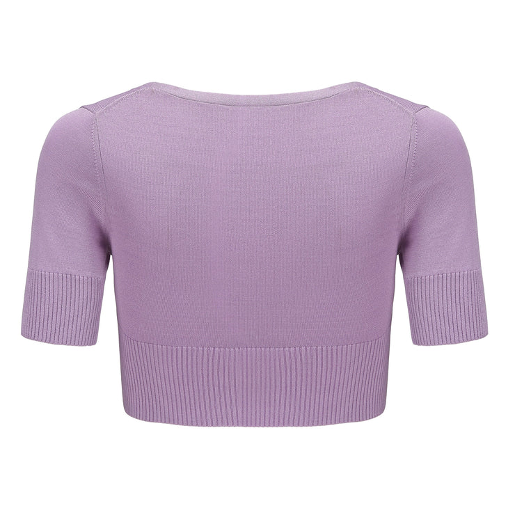Purple Polly Crop Knit - Nana Jacqueline