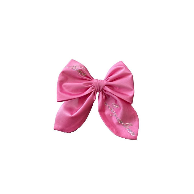 Satin NJ Hair Bow in Pink - Nana Jacqueline