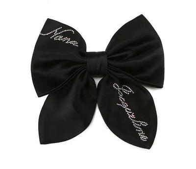 Satin NJ Hair Bow in Black - Nana Jacqueline