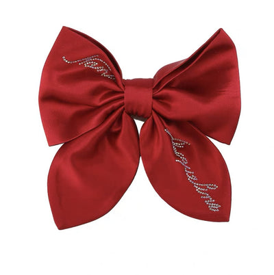 Satin NJ Hair Bow in Red - Nana Jacqueline