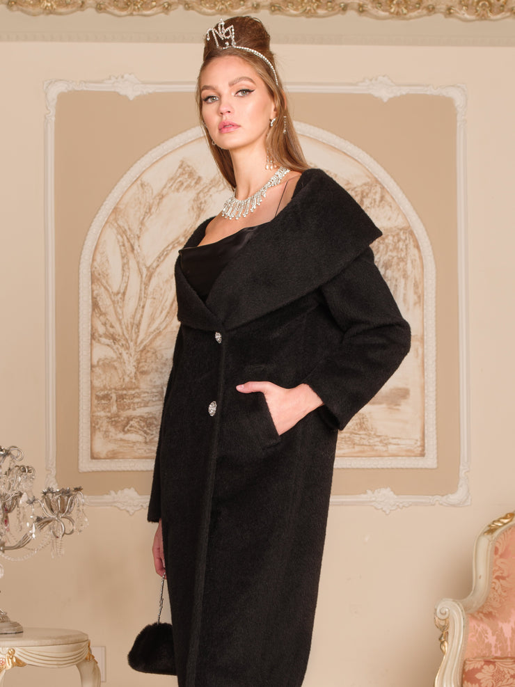 Jackie Coat in Black - Nana Jacqueline
