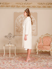 Jackie Coat in White - Nana Jacqueline