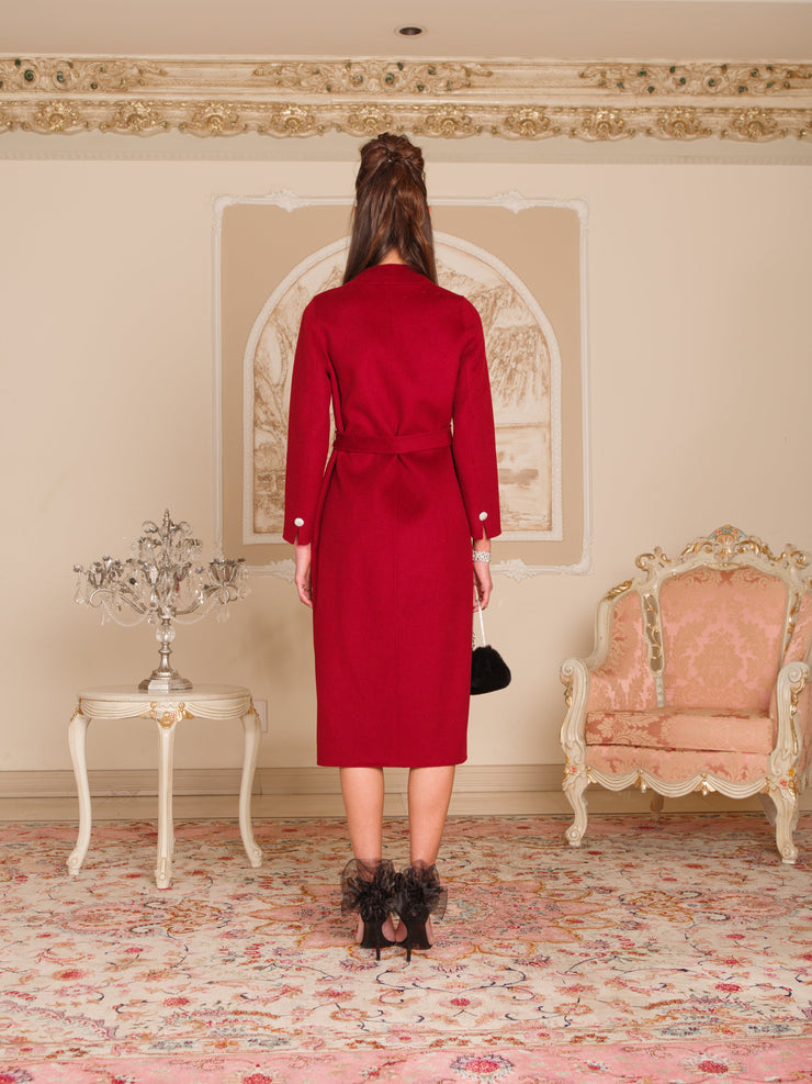 Red Diana Coat - Nana Jacqueline