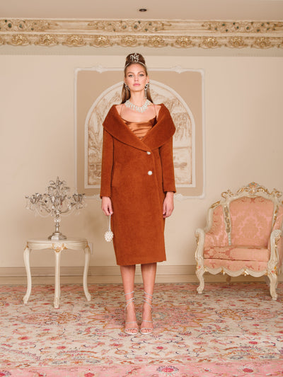 Jackie Coat in Brown - Nana Jacqueline