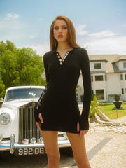 Black Quinn Polo Dress - Nana Jacqueline