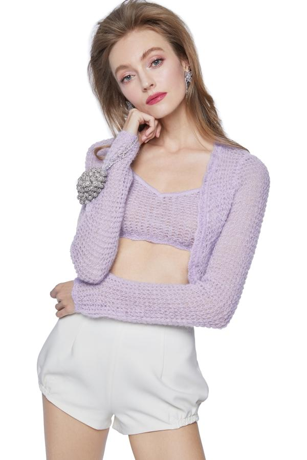 Purple Mohair Cardigan Set - Nana Jacqueline