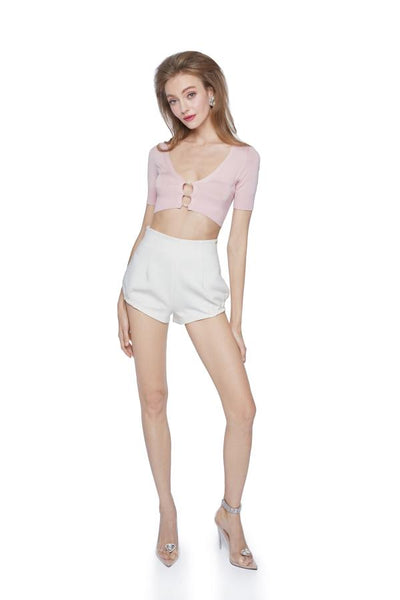 Pink Polly Crop Knit - Nana Jacqueline