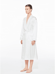 The Gentlemen Velvet Silk Robe in Ivory - Nana Jacqueline