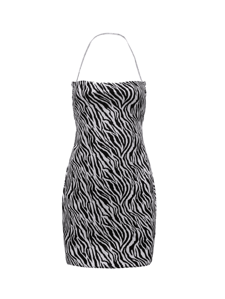 Zebra Velvet Dress - Nana Jacqueline