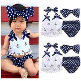 Lovable 3pcs Baby Girl Clothes
