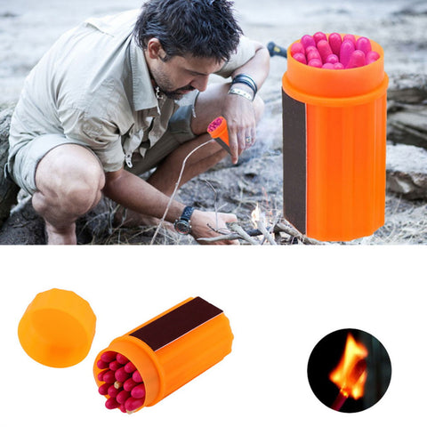Stormproof Waterproof Windproof Emergency Lighter Survival Tool Kit Gear Matches for Outdoor Sport Hiking Camping   B1