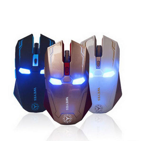 Iron Man Wireless Mouse Gaming Mouse