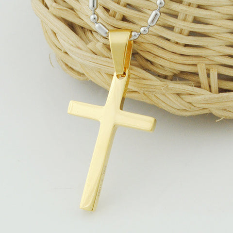Stainless Steel Cross Pendant Necklace For men or women
