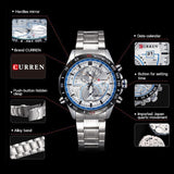 Mens Causal Business Watch Clock Quartz Full Steel Men Watch waterproof