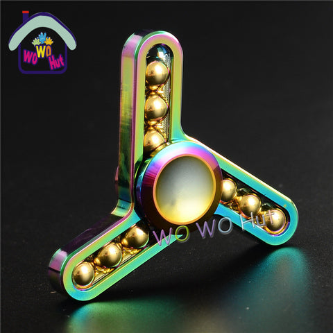 Three leaf ball type Colorful Metal hand Spinner