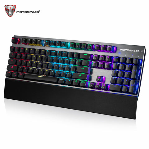 Wired Mechanical Keyboard 104 Keys Real RGB LED Backlits Anti-Ghosting Gaming Keyboard