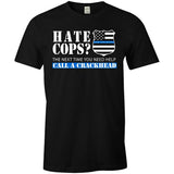 2017 Summer Thin Blue Line Funny Mens O-Neck T Shirts 100% Cotton