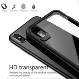 Luxury Shockproof Armor Case For iphone X Fitted Cases Ultra thin Slim Transparent Shell
