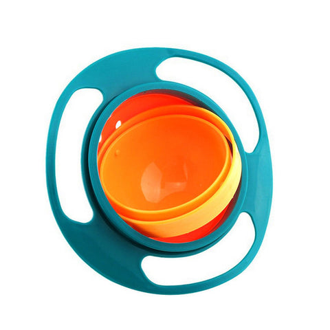 Non Spill Rotating Gyro Bowl For Baby/Kids