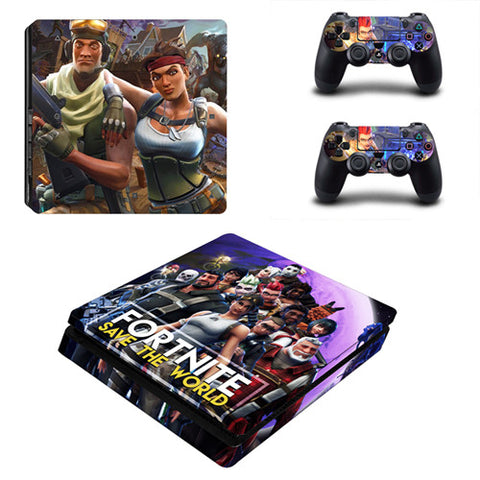 Fortnite PS4 Slim Skin Sticker For Console and 2 Controllers
