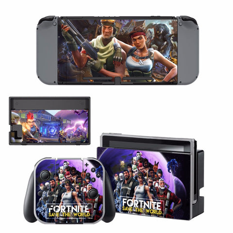 Fortnite Skin Sticker Decal For Nintendo Switch Console and Controller