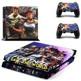 Fortnite Vinyl Sticker PS4 Skin For Console and 2 controllers