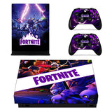 Fortnite Skin Sticker Decal For Xbox One X Console and 2 Controllers