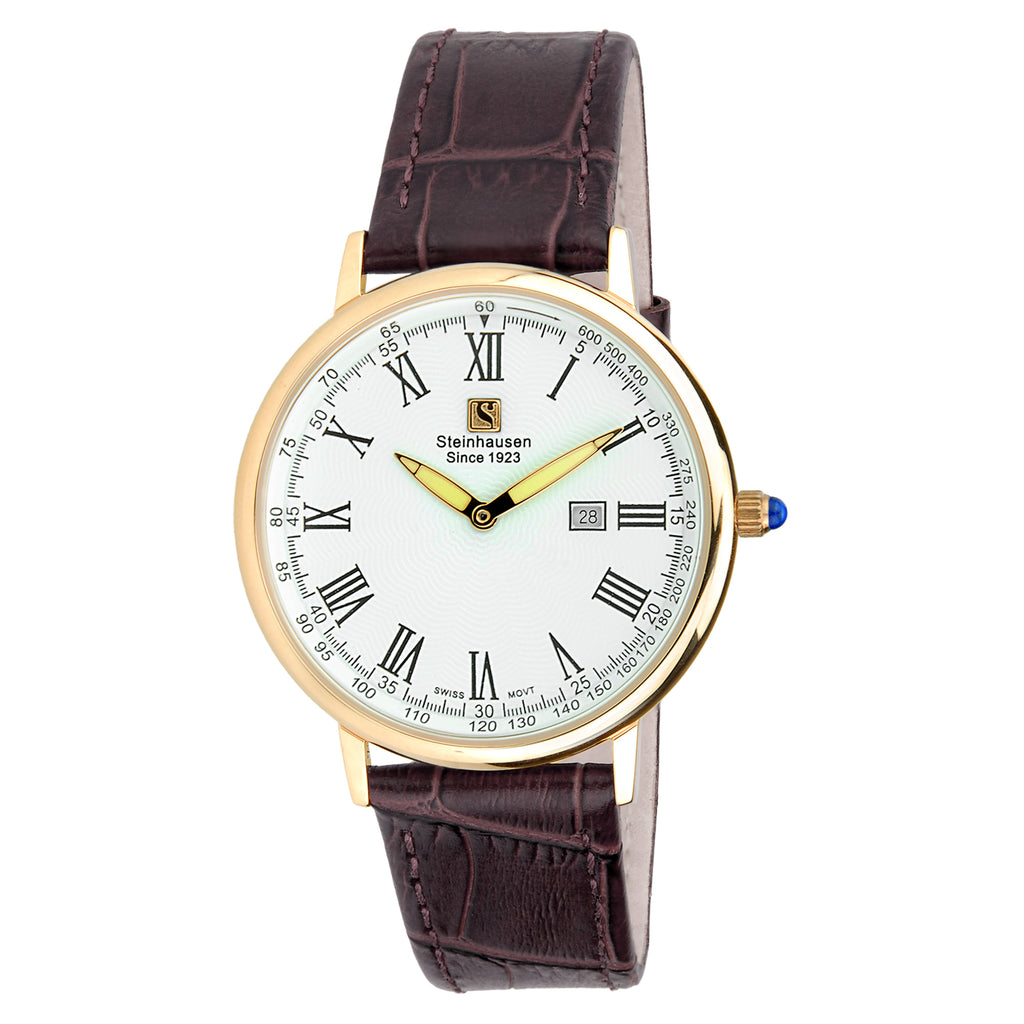 Men's 'Altdorf Collection' Swiss Quartz Stainless Steel and Leather Dress Watch
