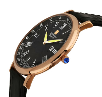 Steinhausen Men's 'Altdorf Collection' Swiss Quartz Stainless Steel and Leather Dress Watch
