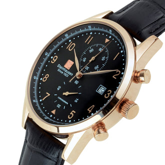 Lugano Collection - Rose-Gold / Black