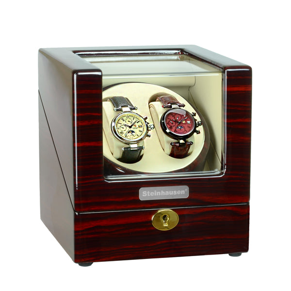 Steinhausen Heritage Double Winder For 2 Watches/Cherrywood