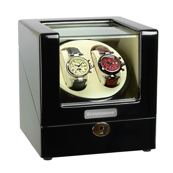 Steinhausen Heritage Double Winder For 2 Watches/Onyx