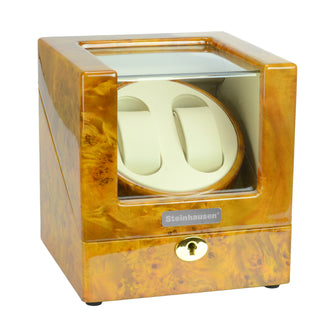 Steinhausen Heritage Double Watch Winder With Ultra Quiet Motor and Multiple Modes