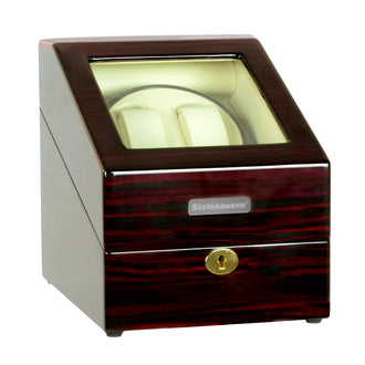 Steinhausen Heritage Double Watch Winder with Storage/Cherrywood