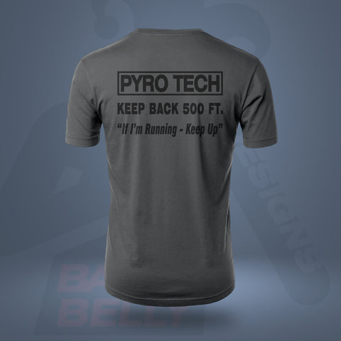 Bella + Canvas 3001 Unisex T-Shirt - PYRO TECH KEEP BACK 500FT GRAY -MEN
