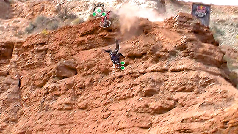Nicholi Rogatkin Takes a Fall at the 2015 Red Bull Rampage With Rheon Shiva Helmet