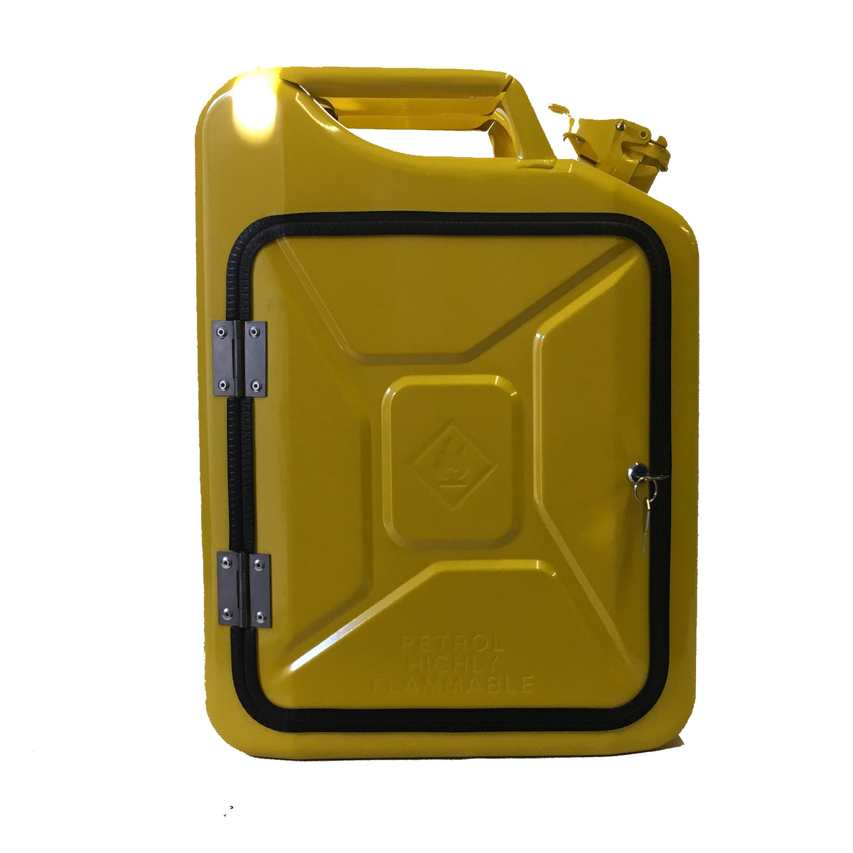 The new jerry can mini bar with precision cut foam interior