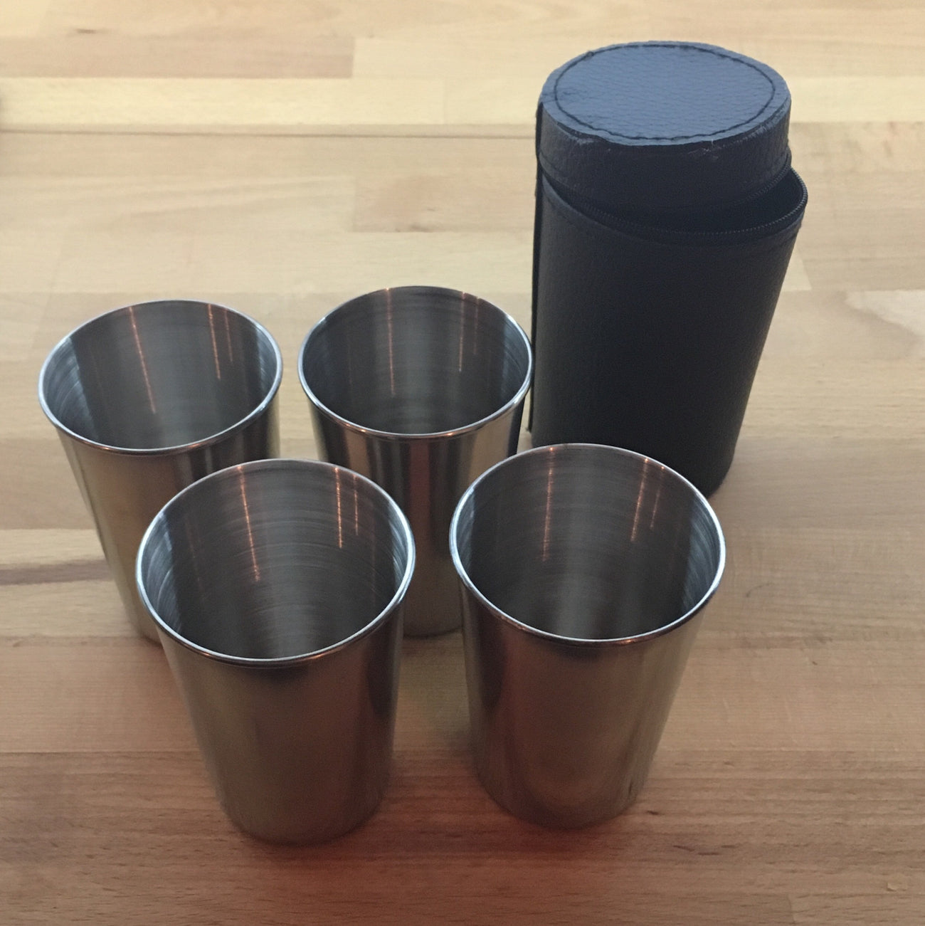 180 ml stainless steel cups x4