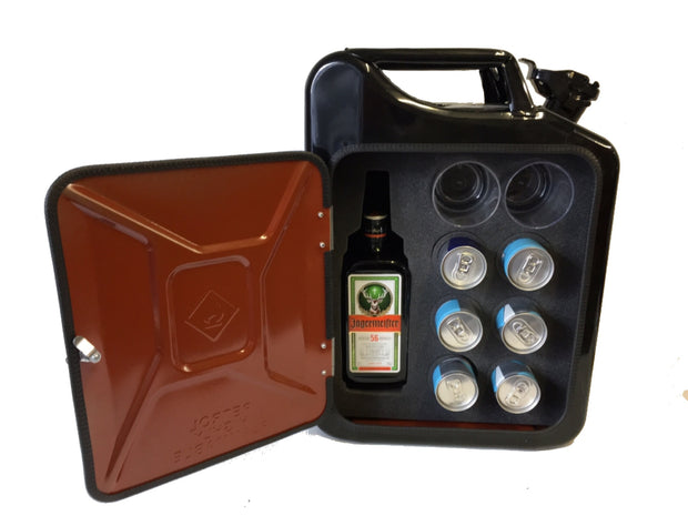 Jagermeister and redbull Precision cut Multibottle universal Jerry can mini bar