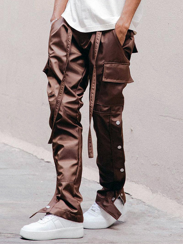 SATIN SNAP CARGO PANTS V1