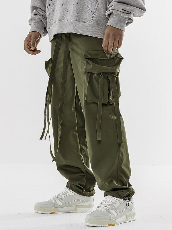 LOOSE DRAWSTRING CARGO PANTS V1