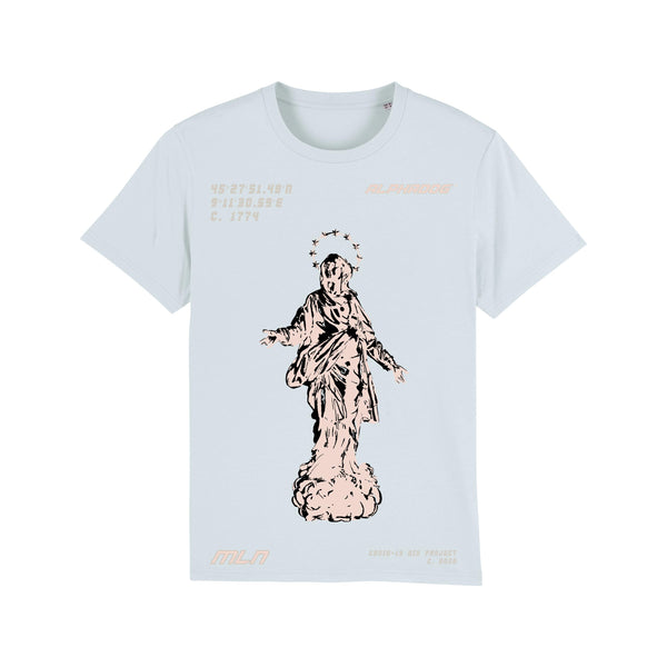 """MADONNINA"" MILAN AID PROJECT TEE - LIGHT BLUE"