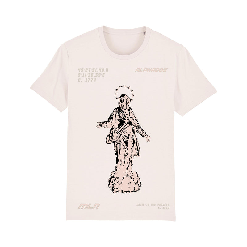 """MADONNINA"" MILAN AID PROJECT TEE - VINTAGE WHITE"